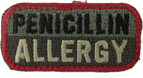 PENICILLIN ALLERGY Patch - FOLIAGE GREEN