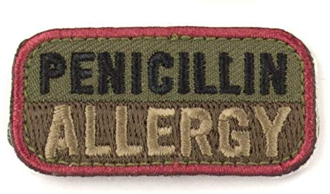 PENICILLIN ALLERGY Patch - WOODLAND
