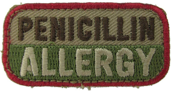 PENICILLIN ALLERGY Patch - MULTICAM OCP