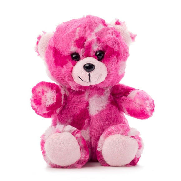 Stuffed Plush Toy Teddy Bear 7 Inch - Pink Camo