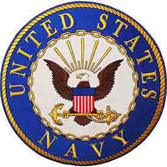 United States Navy Round Logo - Back Patch