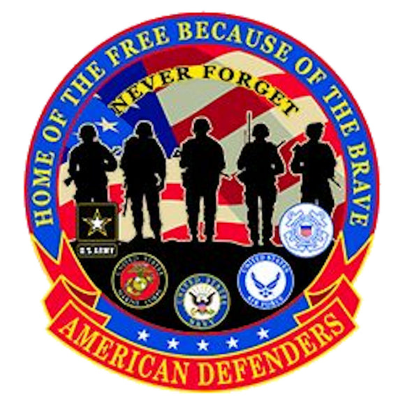 American Defenders Patch - Home of the Free Because of the Brave Back Patch