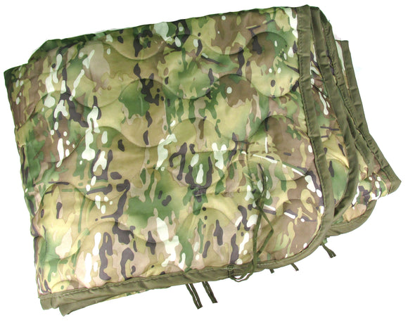 CLOSEOUT - Multicam Poncho Liner with or without Zipper - Multicam Woobie