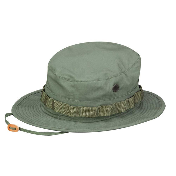 Olive Drab Ripstop Boonie Hat - Propper including Adjustable Chin Strap. 4 Sizes Available