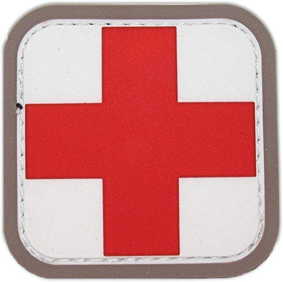 Medic Square Patch - PVC with Hook Fastener