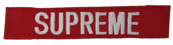 Red Name Tape with Hook Fastener - Fabric Material