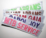 Reflective Name Tape with Hook Fastener - Fabric Material