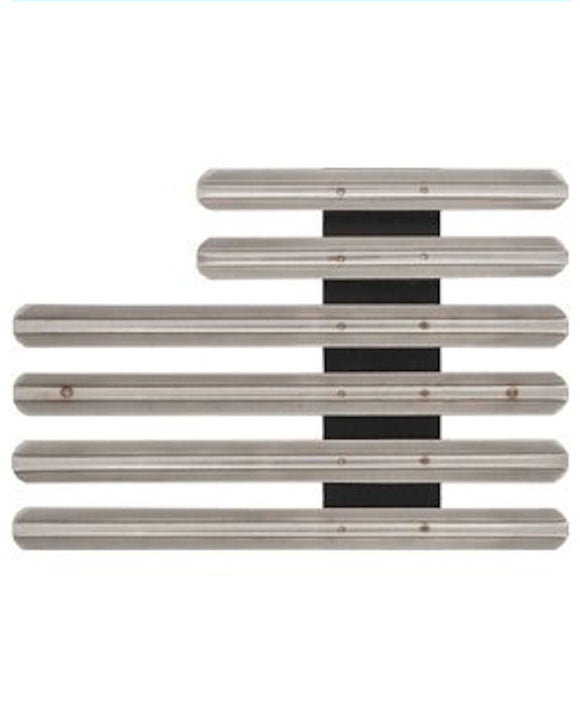 Ribbon Bar Holder with 1/8 Inch Gap - Staggered Right - 16 Ribbons
