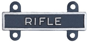 U.S. Army Qualification Bars for Marksmanship Qualification Badges - Silver Oxide Finish