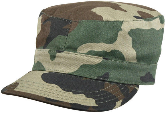 Rothco Camo Fatigue Caps - Woodland