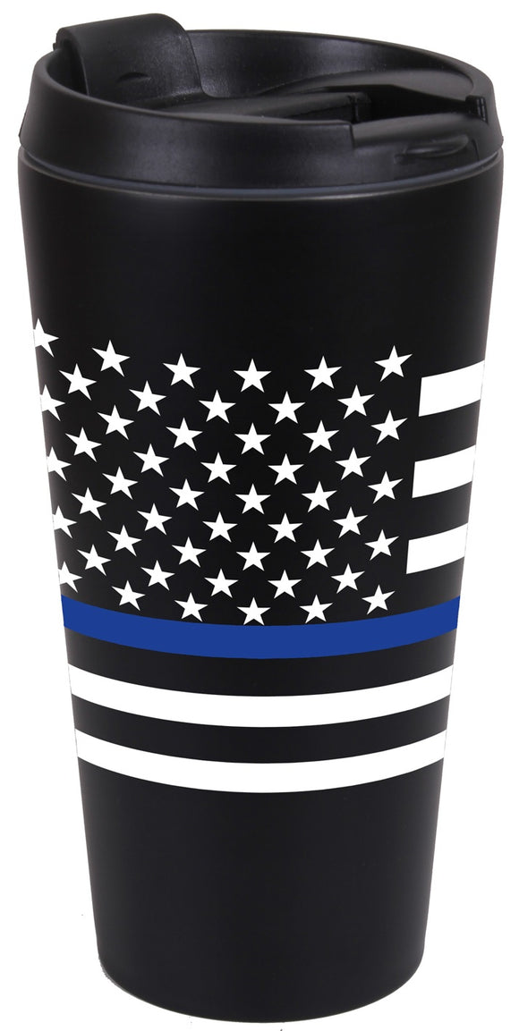 Thin Blue Line Travel Mug