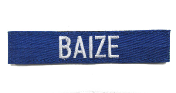 Royal Blue Name Tape with Hook Fastener - Fabric Material