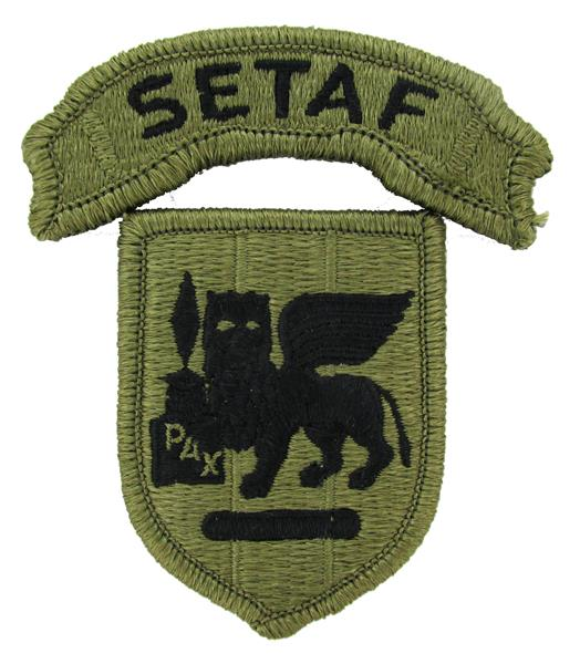 Southern European Task Force (SETAF) Multicam OCP Patch & Scroll