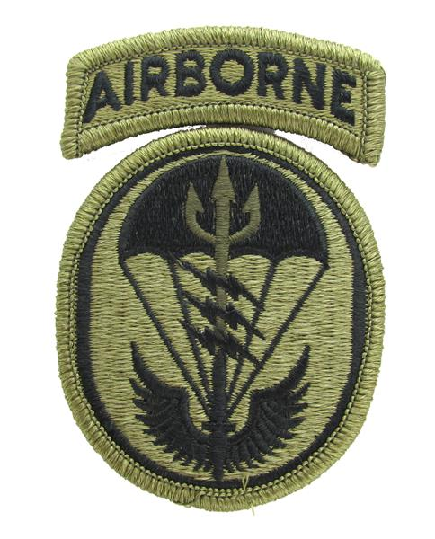 U.S. Army Special Operations Command South OCP Patch with Airborne Tab - Scorpion W2