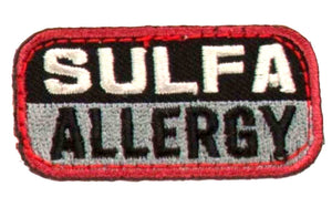 SULFA ALLERGY Patch - BLACK