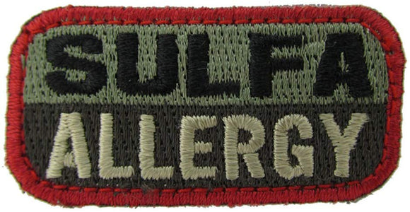 SULFA ALLERGY Patch - FOLIAGE GREEN