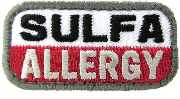 SULFA ALLERGY Patch - MEDICAL