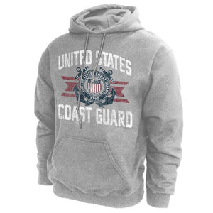U.S. Coast Guard Emblem Hoodie Sweatshirt - GREY