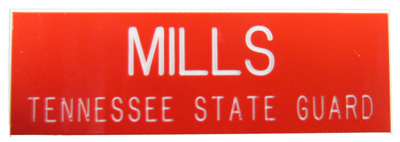Tennessee State Guard Name Plate