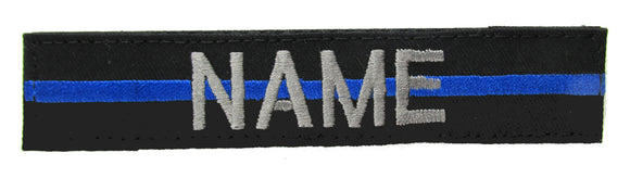 Thin Blue Line Name Tape with Hook Fastener
