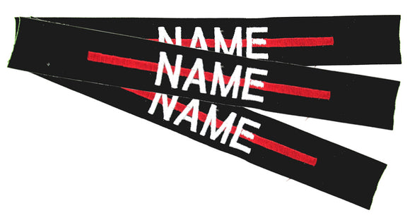 Thin Red Line Name Tapes Sewon - 3 Pack