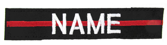 Thin Red Line Name Tape with Hook Fastener