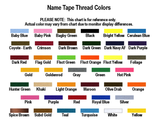 Name Tape Thread Colors