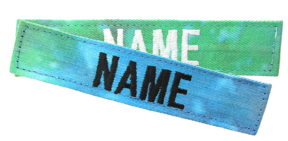 Tie Dye Name Tape with Hook Fastener - Fabric Material