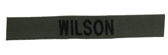 Cotton Webbing Olive Drab Name Tape - SEW ON