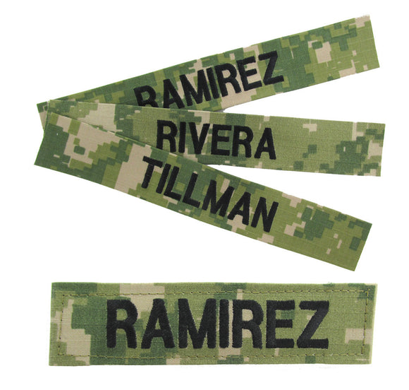 U.S. Navy Woodland NWU III Name Tapes