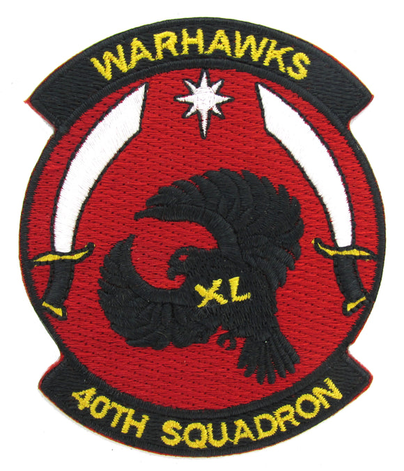 USAF Academy 40th Cadet Squadron Patch - Warhawks