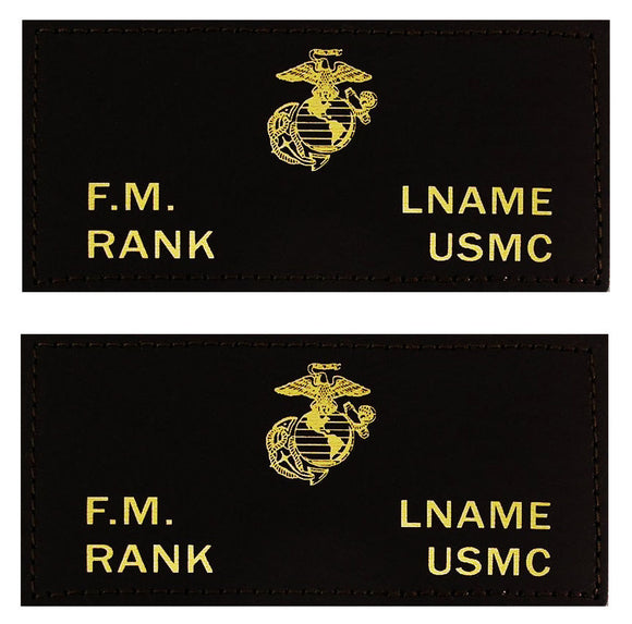 U.S. Marines Leather Flight Badge - BLACK - 1 Pair