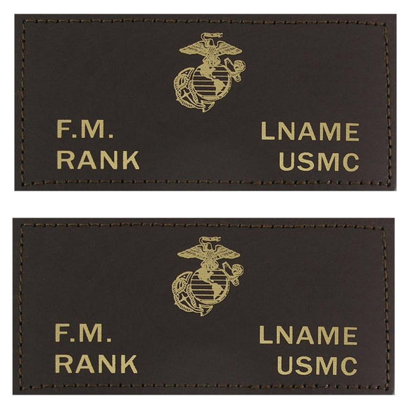 U.S. Marines Leather Flight Badge - BROWN - 1 Pair