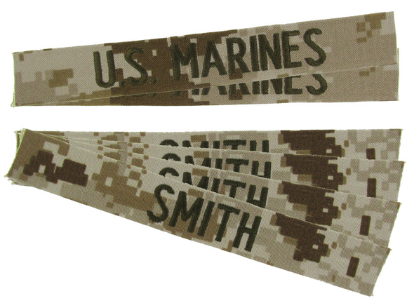 MCCUU USMC Name Tape Package - MARPAT Desert Digital