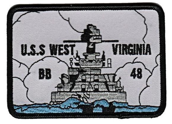 USS West Virginia BB-48 USMC Patch