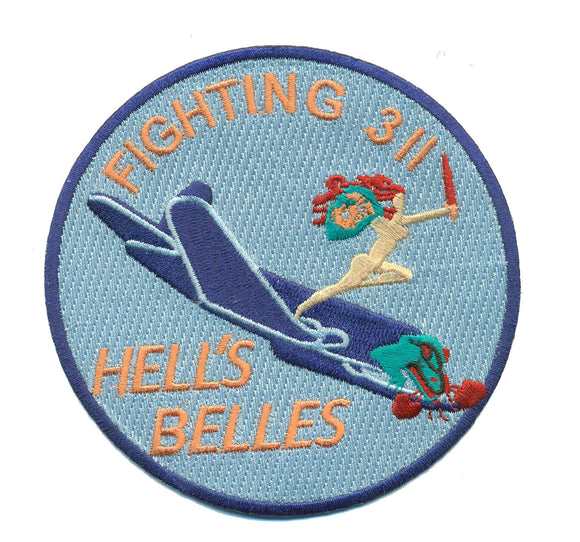 Reproduction VMF-311 WWII USMC Patch - Fighting 311 Hell's Belles