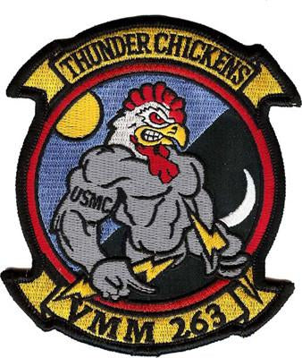 VMM-263 Squadron USMC Patch - Thunder Chickens
