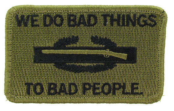 CIB We Do Bad Things to Bad People Morale Patch - Various Colors