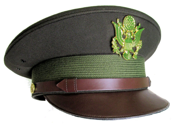 Replica WWII U.S. Army Officer's Crush Cap for Costumes - Olive Drab