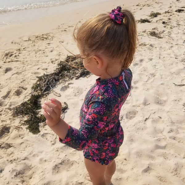 Pretty Posy | Long Sleeve Two Piece Swimwear