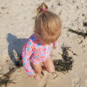 Sunflower Sunshine | Baby Long Sleeved One Piece Swimwear