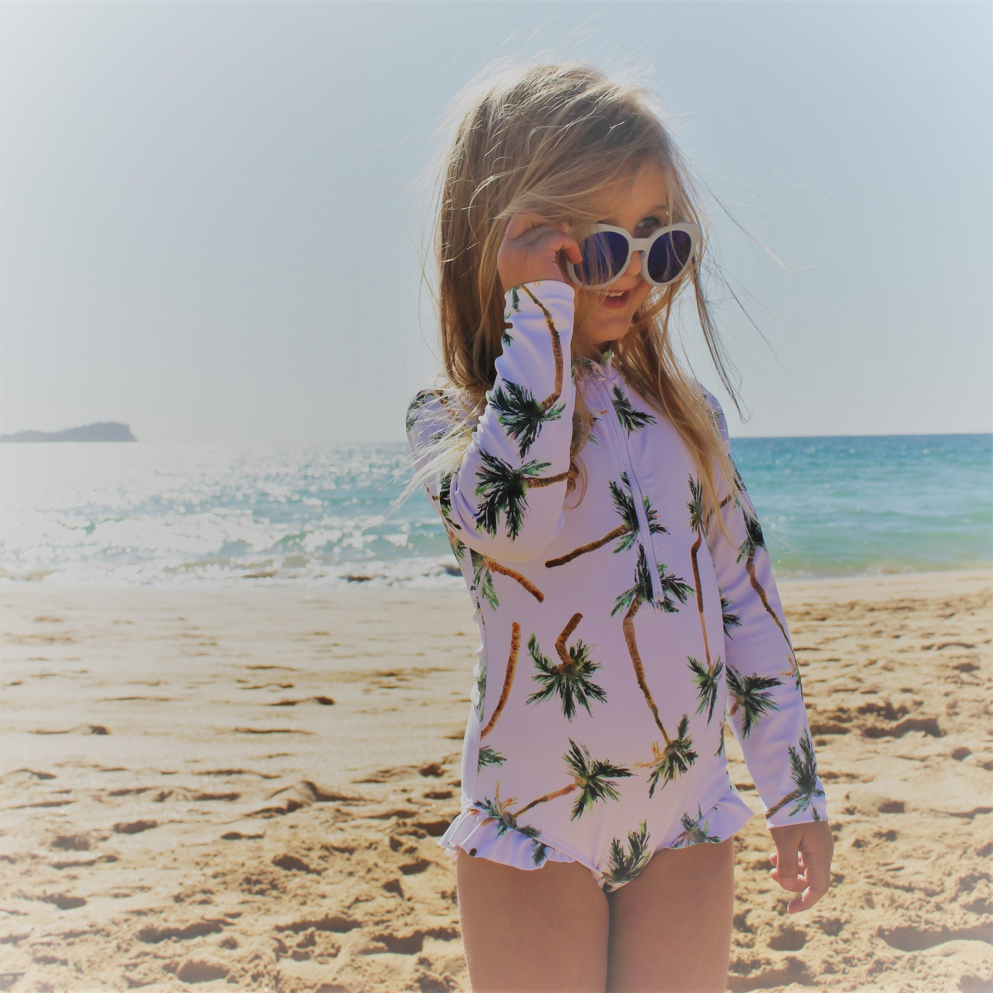 Palm Oasis | Long Sleeved One Piece Swimwear