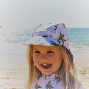 Palm Oasis Swim Flap Hat