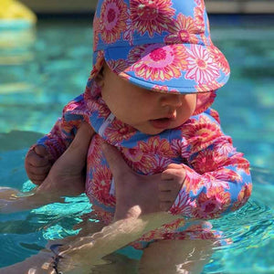 BABY SWIMWEAR & FLAP HAT
