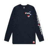 X Waka Flocka - Trapper Rapper Navy Long Sleeve