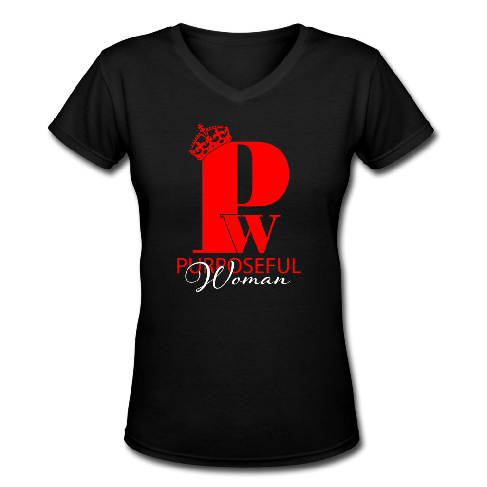 "Red & Black ""SisterWives"" V-Neck - black"