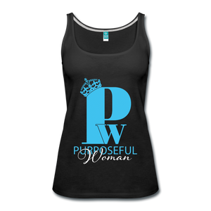 Purposeful Woman Tank Top - black