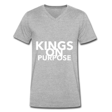 Load image into Gallery viewer, Kings On Purpose Men's V-Neck - heather gray