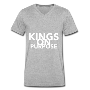 Kings On Purpose Men's V-Neck - heather gray