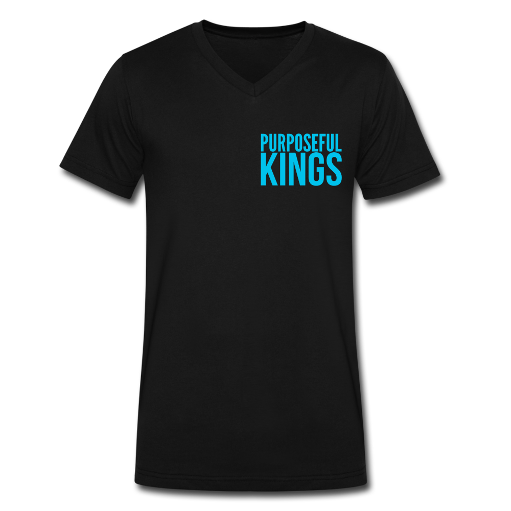 Men's  Purposeful Kings V-Neck - black